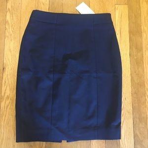 Navy H&M pencil skirt